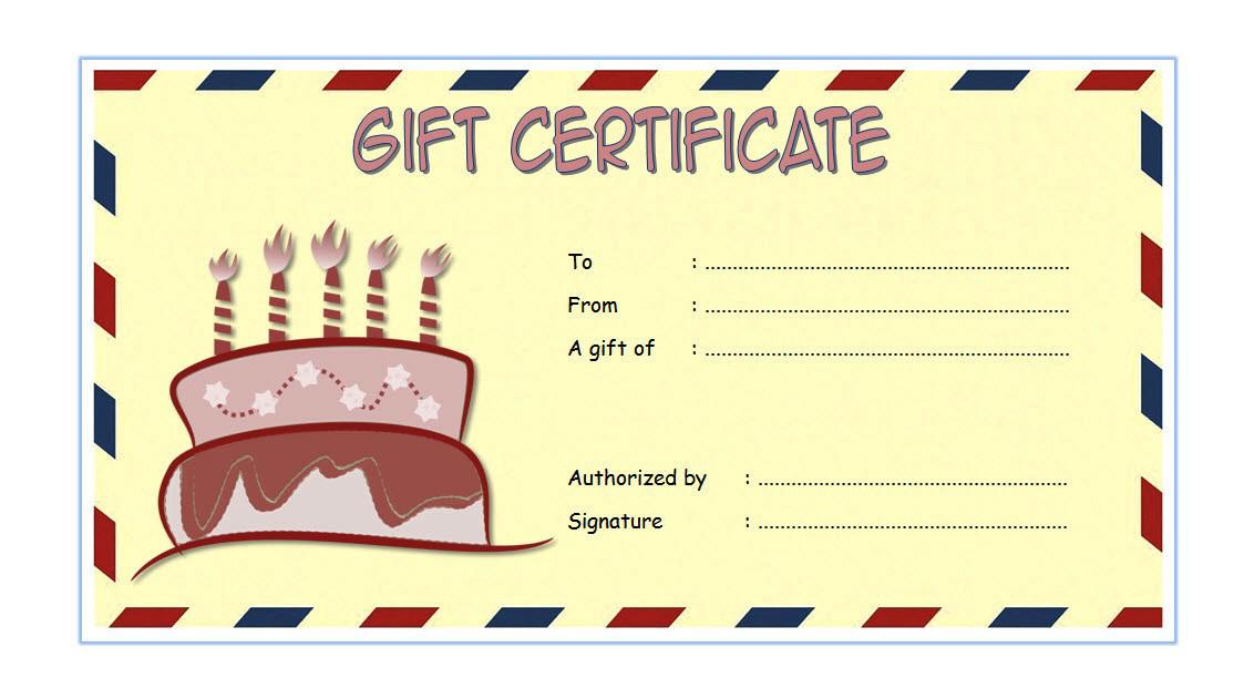Birthday Gift Voucher Template Free 1 Free Gift Certificate Template Voucher Template Free Gift Certificate Template