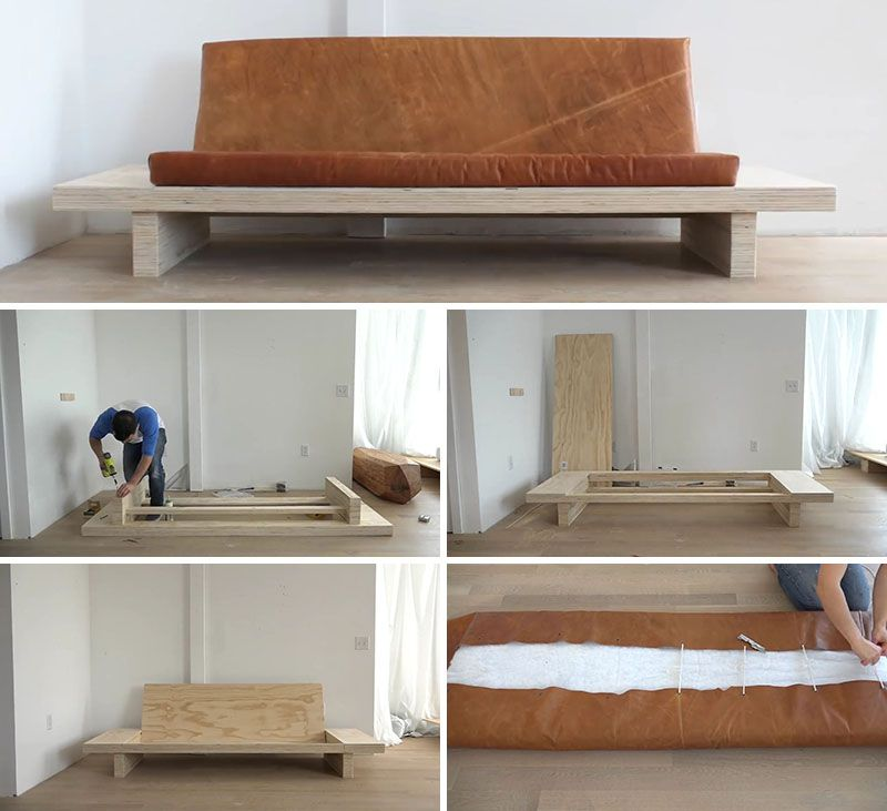 Kak Sdelat Divan Iz Fanery Diy Sofa Diy Furniture Couch Homemade Sofa