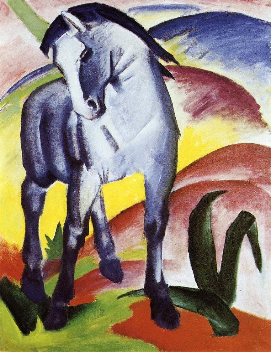 Resultado de imagen de franz marc blue horse i 1911