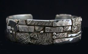 Sterling Silver Cuff by Jill O'Reilly. American Made. 2013 Buyers Market of American Craft. americanmadeshow.com