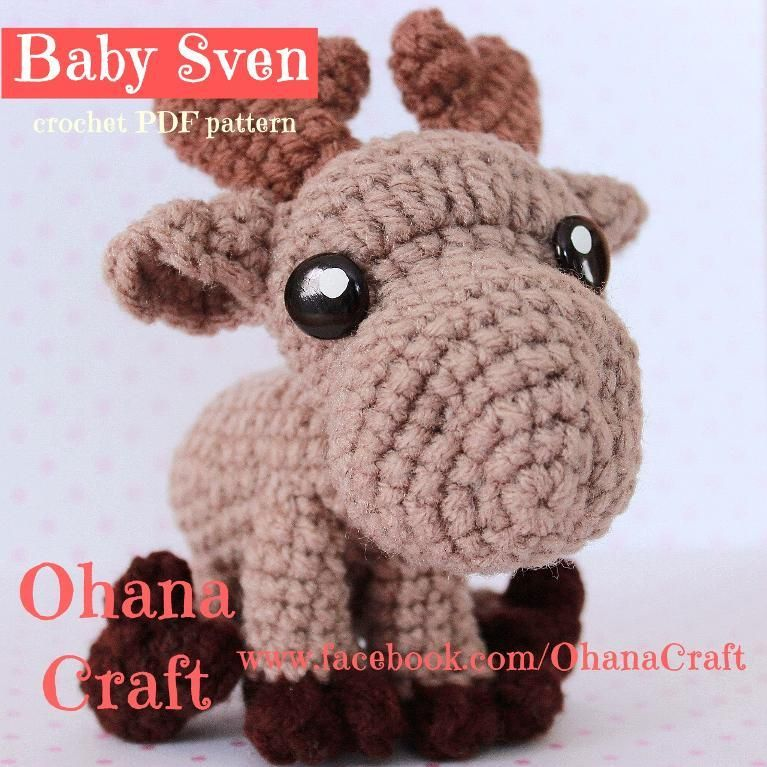 Sven the reindeer from Frozen Crochet pattern https://www.facebook ...