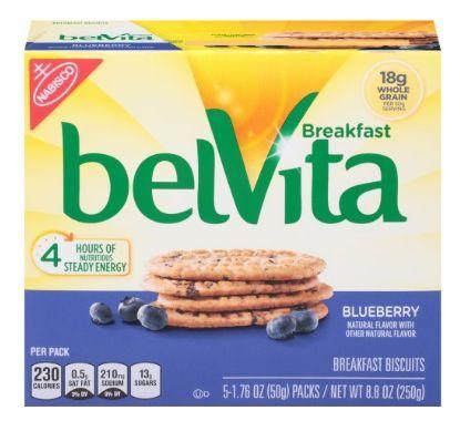 Belvita Breakfast Biscuits, Blueberry, 5 Ct