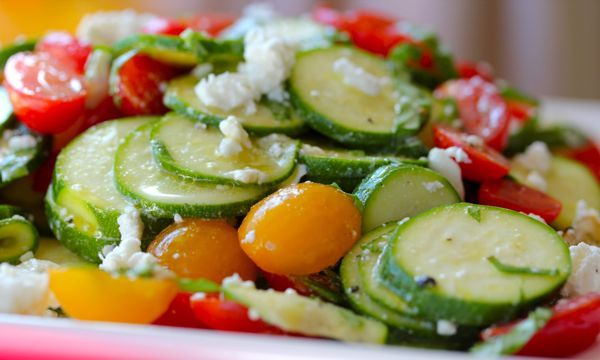 Raw Zucchni Salad