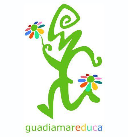 Logo Guadiamar Educa. #comarcadedonana #aznalcazar #educacion #guadiamar #rutas #aventura #donana #piraguismo #senderismo #rocodromo #birdwatching #aves