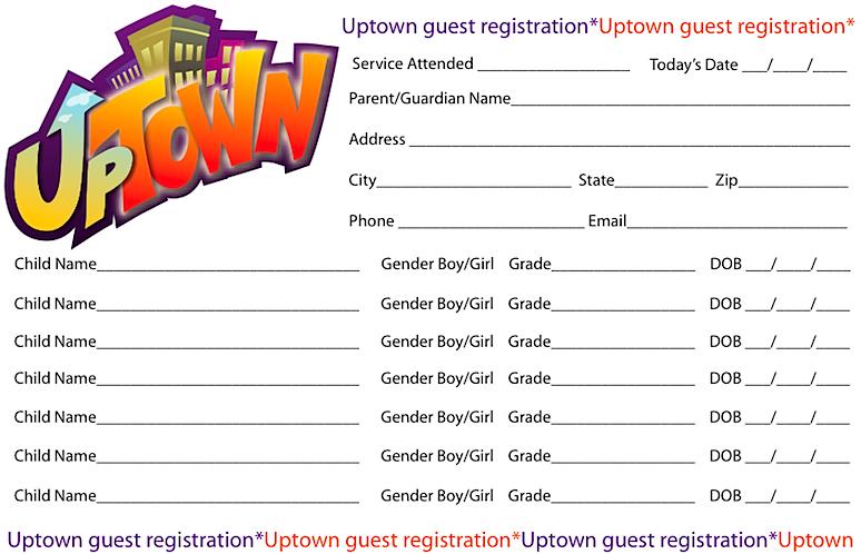Registration Cards Childrens Ministry Online Childrens Ministry Children S Ministry Childrens Church