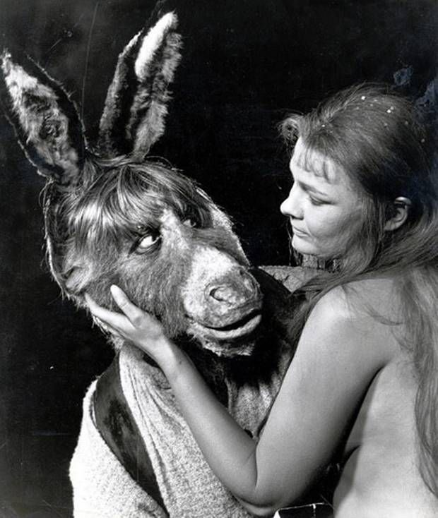 Judi Dench As Titania During The Filming Of Shakespeares A Midsummer Nights Dream By Peter Hall