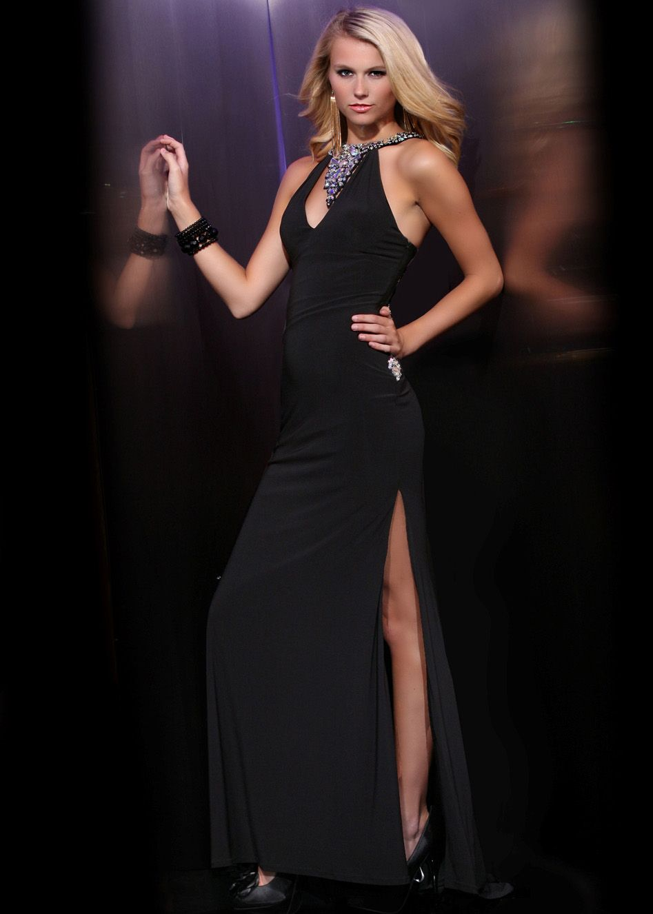 Buy now xtreme black open back jeweled prom dresses available