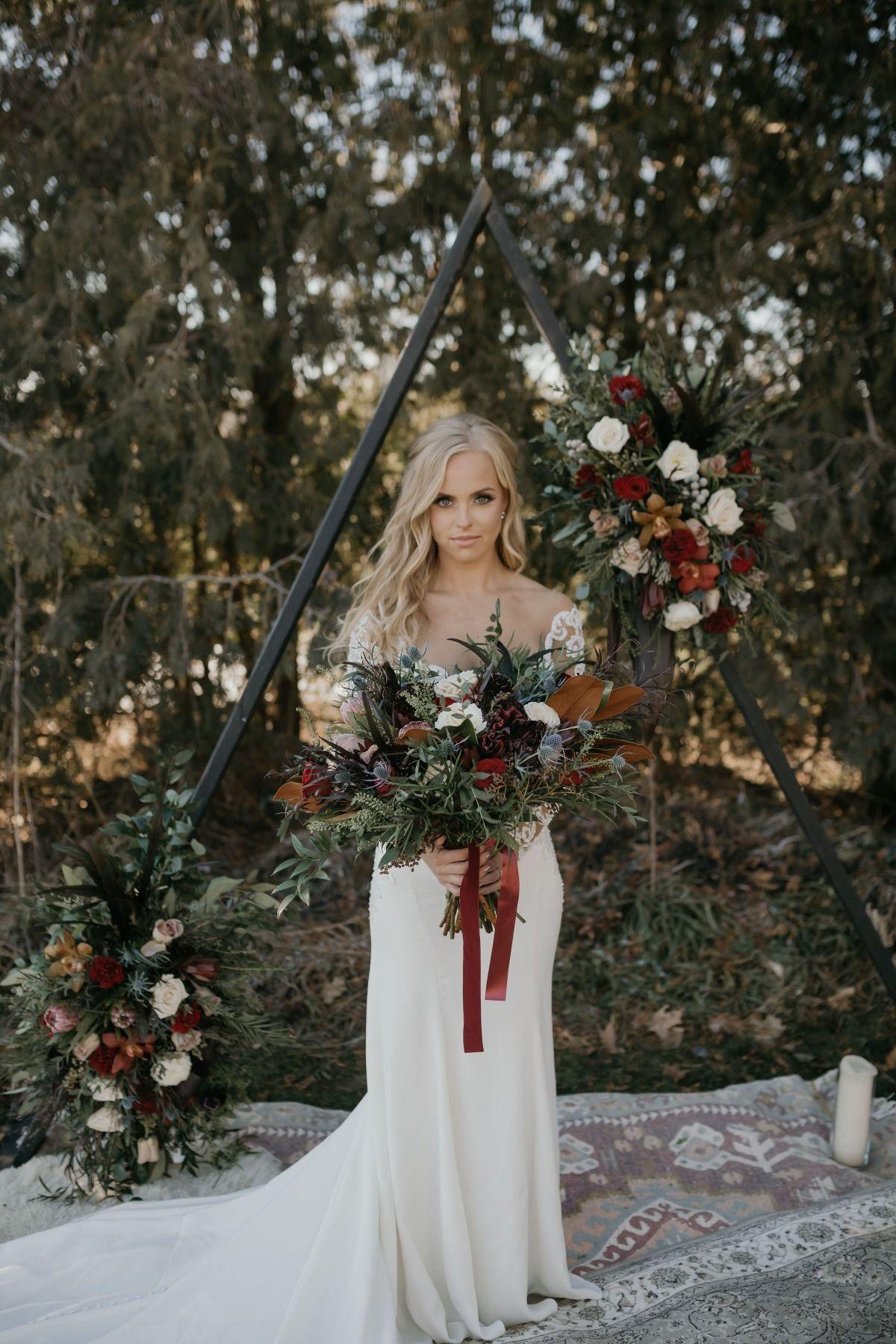 Moody Bohemian Romance Wedding For Two Wedding Styles Wedding