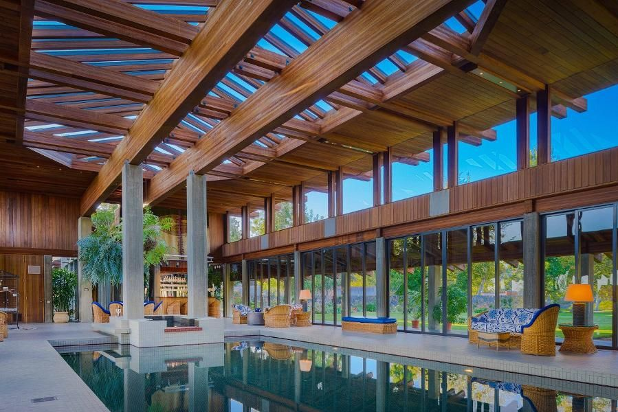 Indoor Pool Pavilion Rancho Santa Fe Expensive Houses Indoor Pool Design
