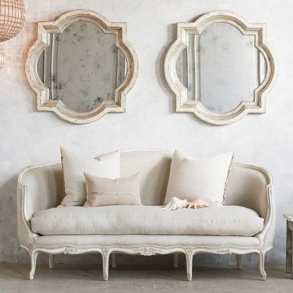 Seraphine sofa by Eloquence. Swedish decor inspiration, French and Gustavian Design Style from Eloquence. #swedish #interiordesign #frenchcountry #gustavian #nordic #decoratingideas #whitedecor #eloquence #furniture