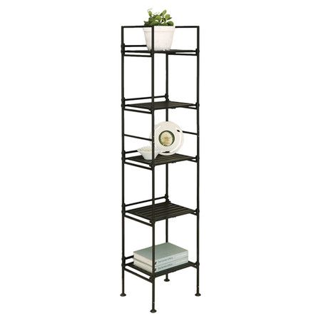 Found It At Wayfair Tall Shelving Unit In Black Home Ideas Bookcase Etagere Bookcase Shelves