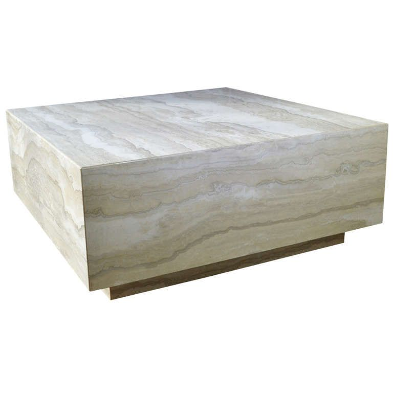 Marble Coffee Table Pros And Cons: Travertine Marble Cocktail Table
