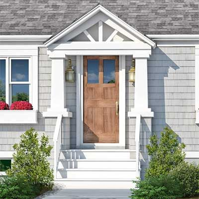 Photoshop Redo Perking Up A Plain Cape Cod Cape Cod House Exterior House Exterior House Entrance