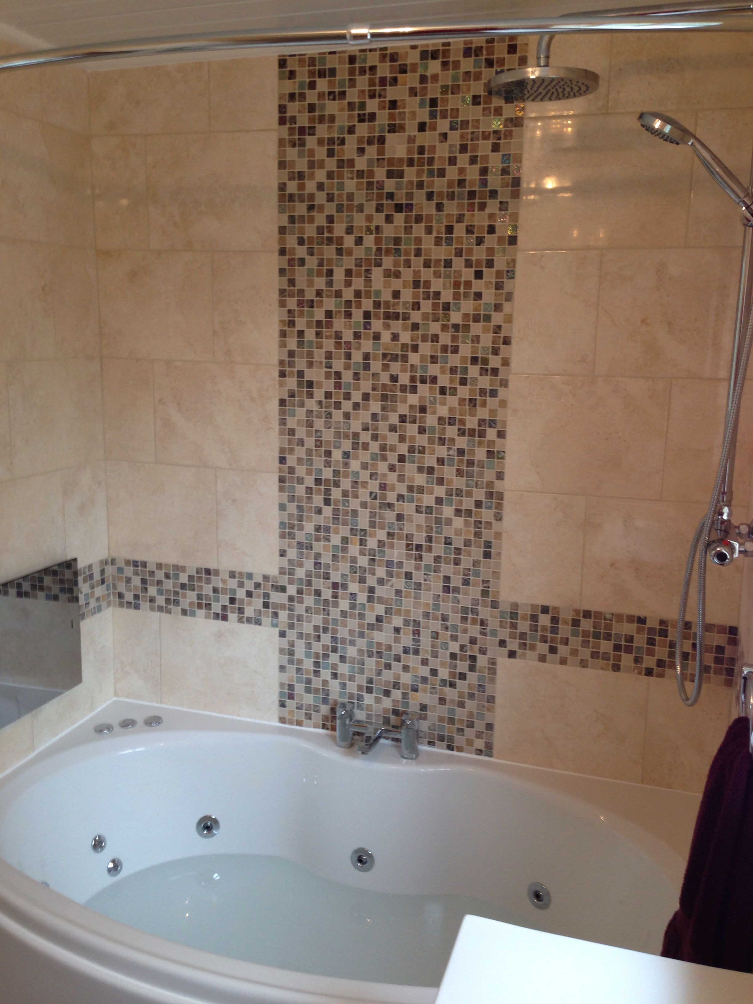 Phoenix Corsica double ended bow front bath with system 1 whirlpool ...