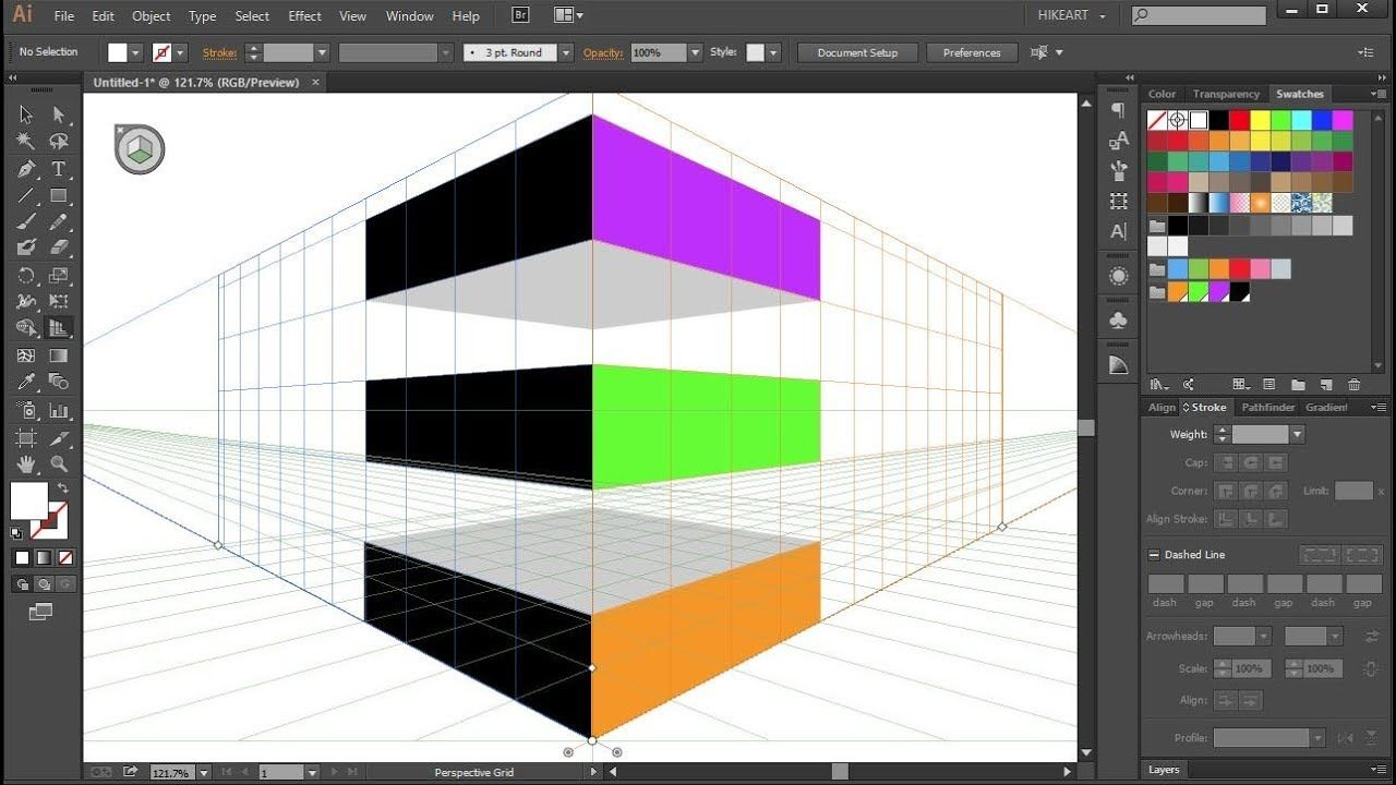 How To Use The Perspective Grid Tool In Adobe Illustrator Part 2 Graphic Design Tools Adobe Illustrator Adobe Illustrator Design