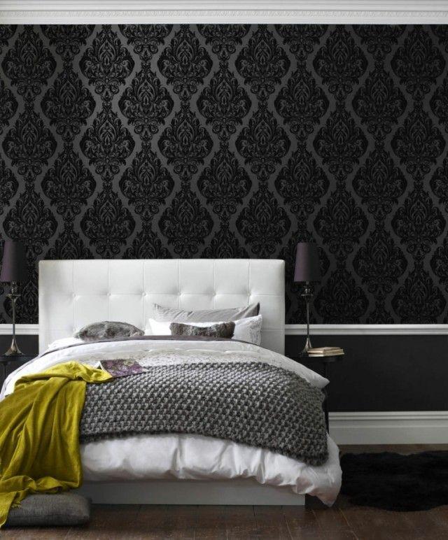 Papier Peint Noir 40 Idées Pour Un Design Mural Spectaculaire