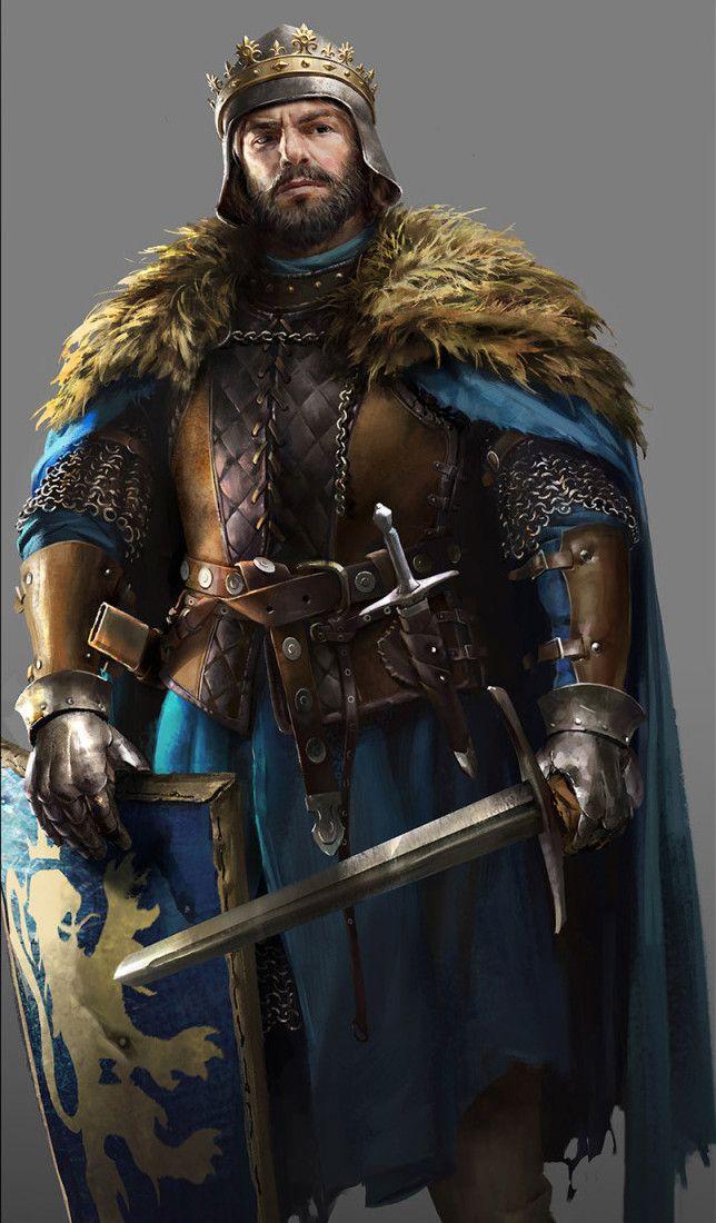 Kings Illustrations for Total War Battle , Lulu Zhang