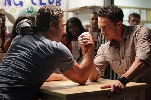 Still of Michael Trevino and Taylor Kinney in The Vampire Diaries
