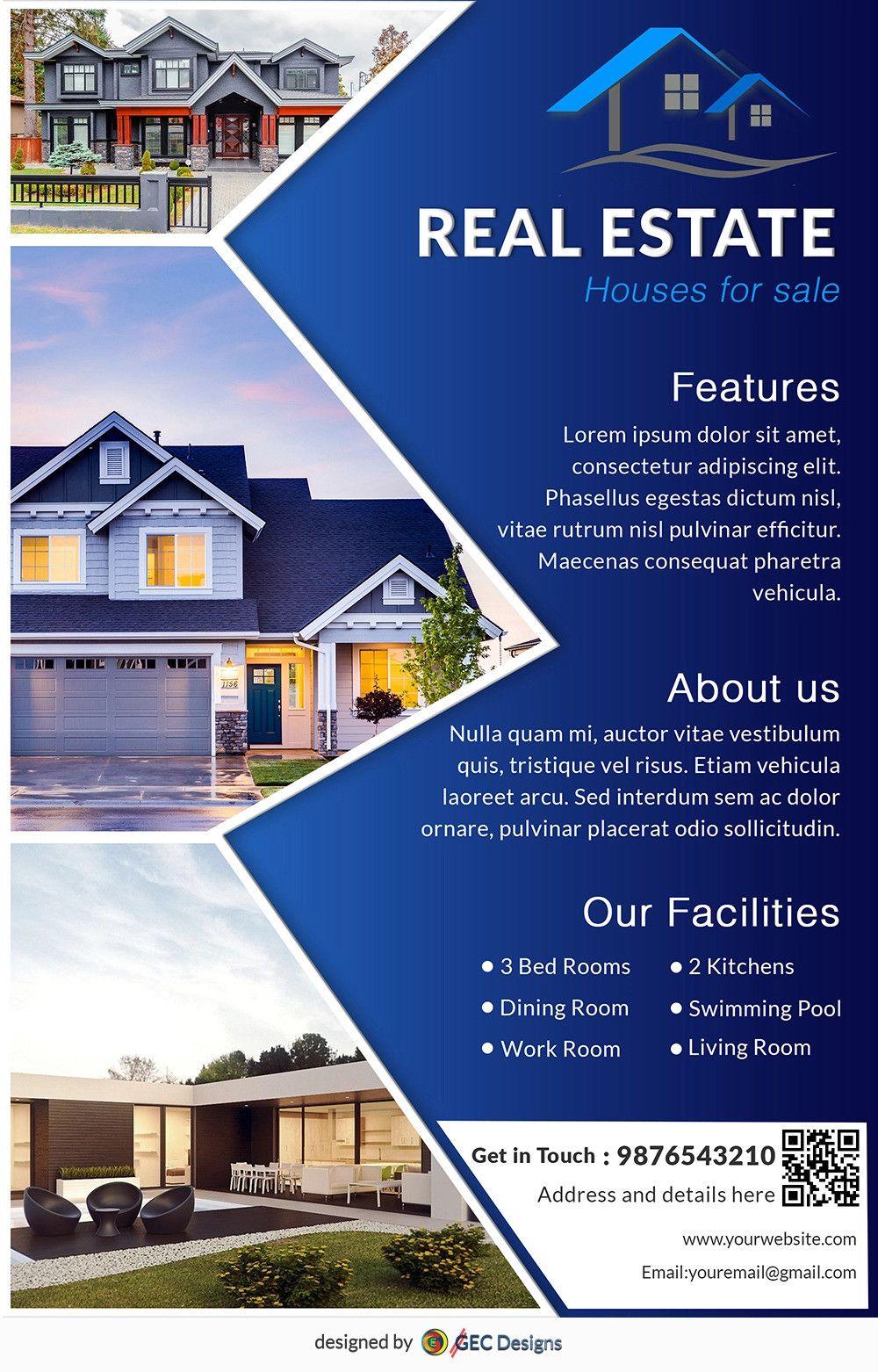 House Designs For Sale 2021 Desain Brosur Brosur Desain Banner