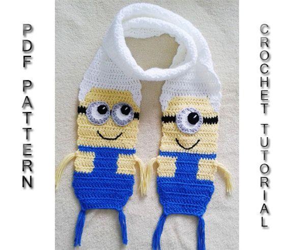 Minion Scarf Pattern Funny Crochet Scarf Inspired By Minions Diy