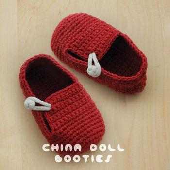China Doll bebé botines del ganchillo PATRÓN - PDF von Kittying auf ...