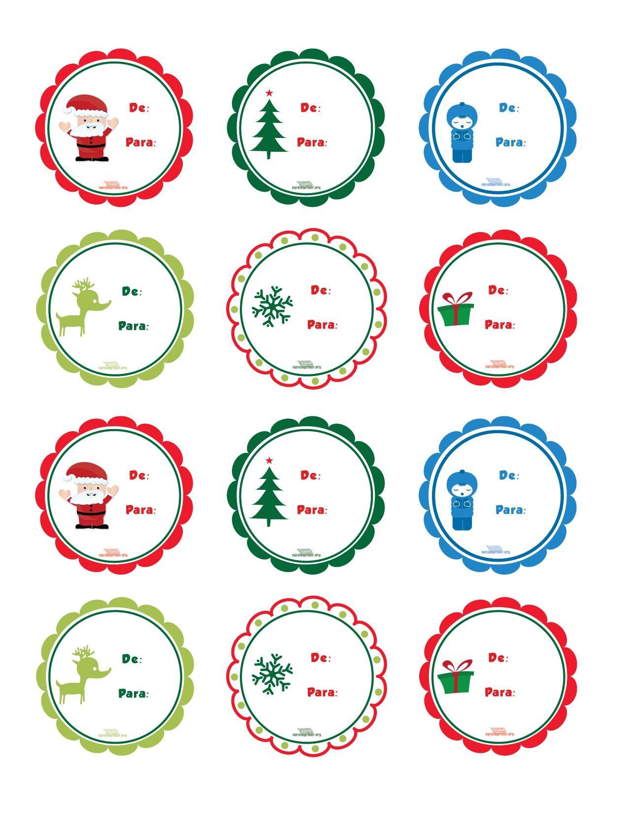 Etiquetas navide as para imprimir y pegar en tus regalos - Manualidades para regalar en reyes ...