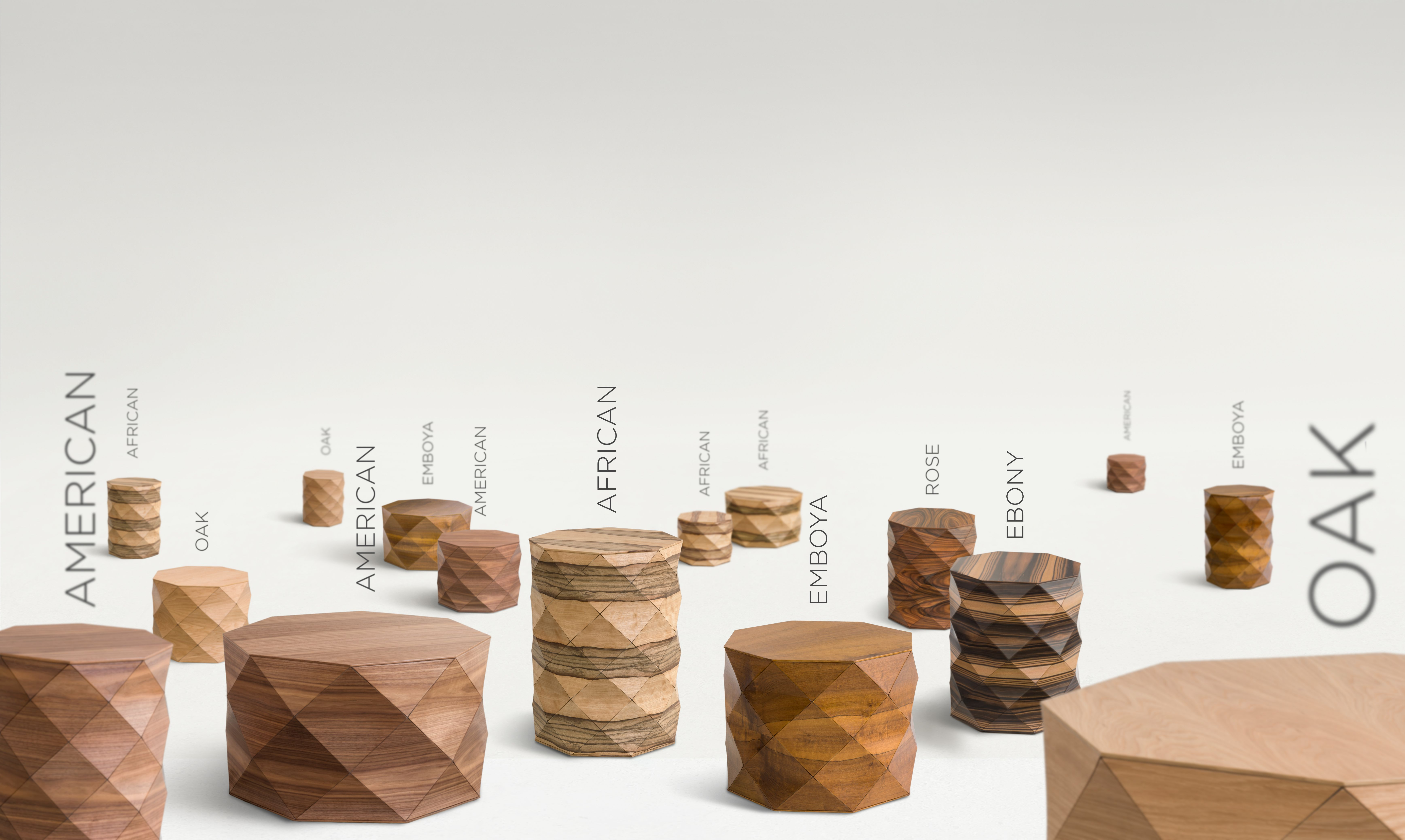 Coffee Tables Ottomans And Stools Faceted Wood Handmade Tesler Mendelovitch Handmade Wood Coffee Table Wood Place Card Holders [ 4152 x 6944 Pixel ]