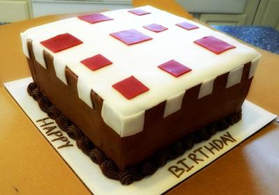 Minecraft Cake Recipe Festa