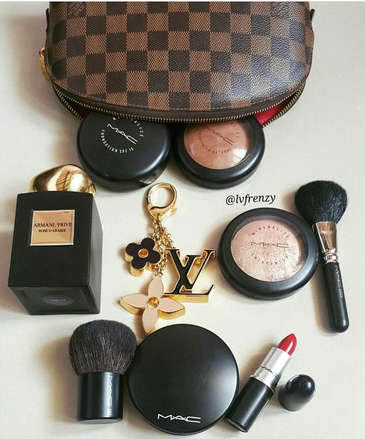 M.A.C makeup and LV cosmetic pouch (With images) Makeup