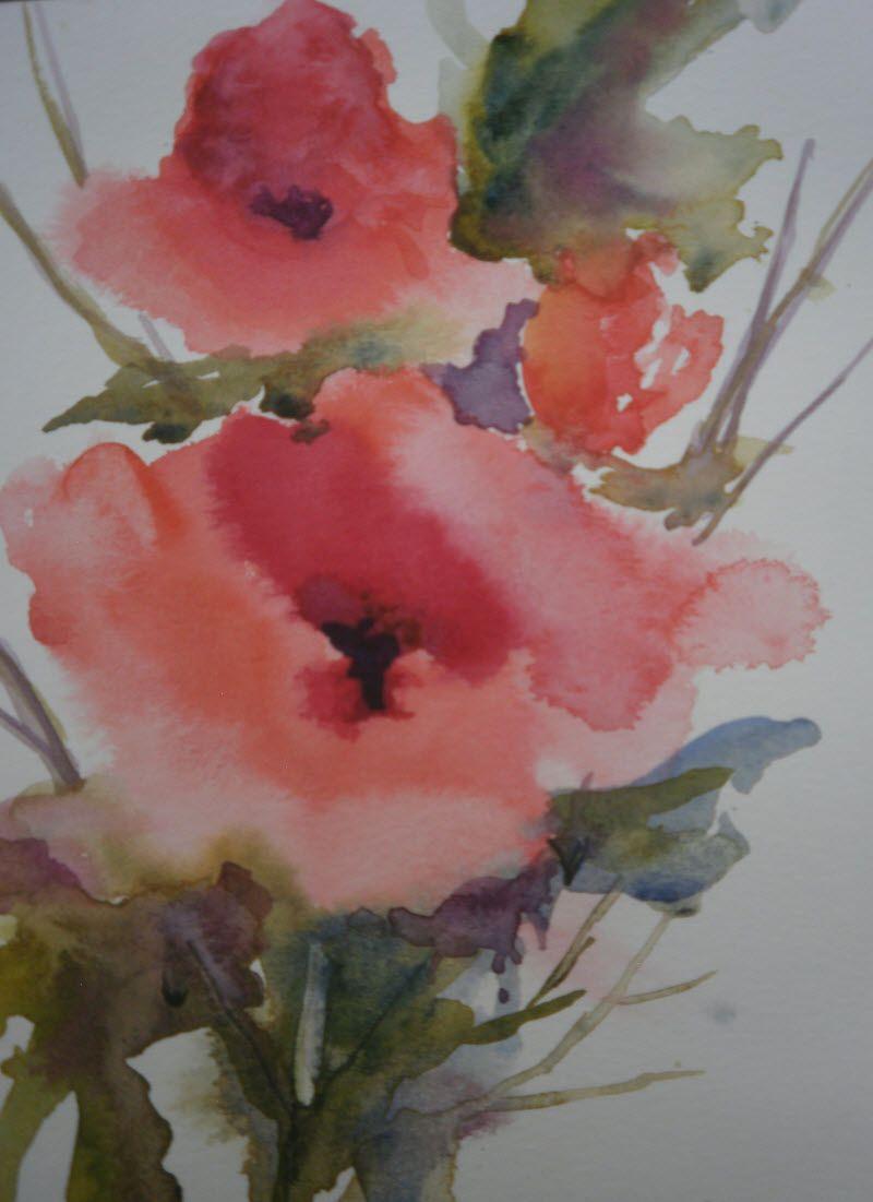 flower by mj milbrandt #watercolor # floral