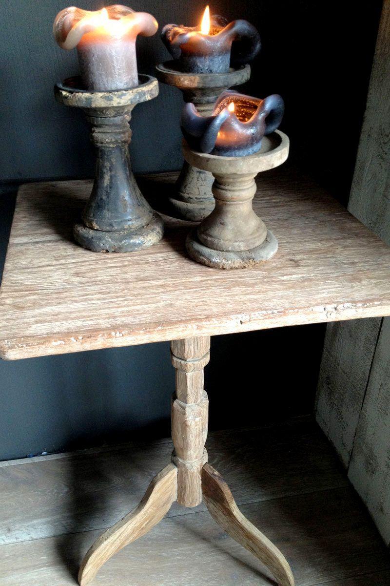 Antiek vierkant wijntafeltje van hoffz interieur for Antiek interieur