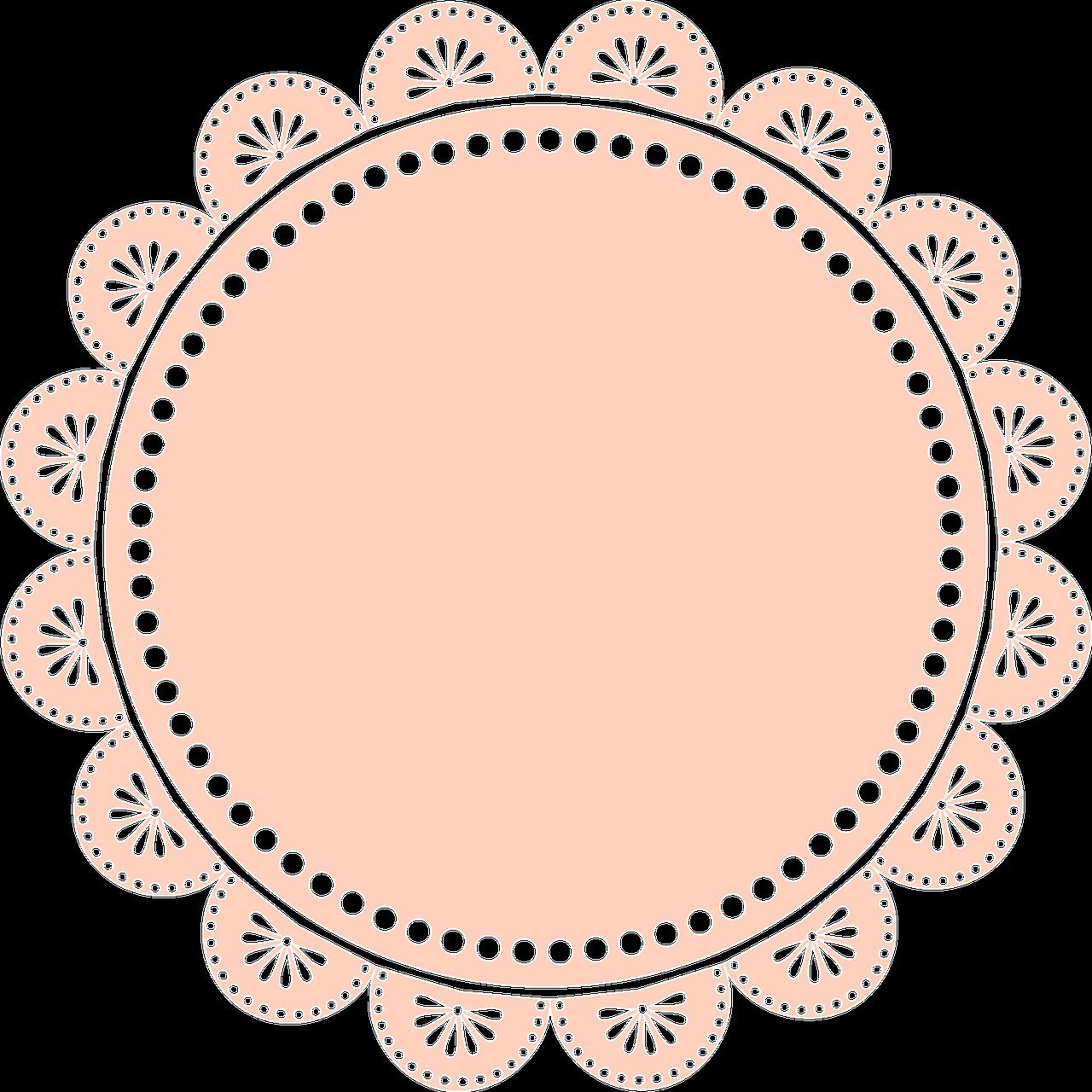 Free Image On Pixabay Digiscrap Lace Circle Frame Flower Frame Circle Frames Frame Logo