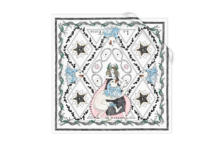 White Silk Square 70 X 70 Cm Dior Dior Dior Fashion Scarf Print