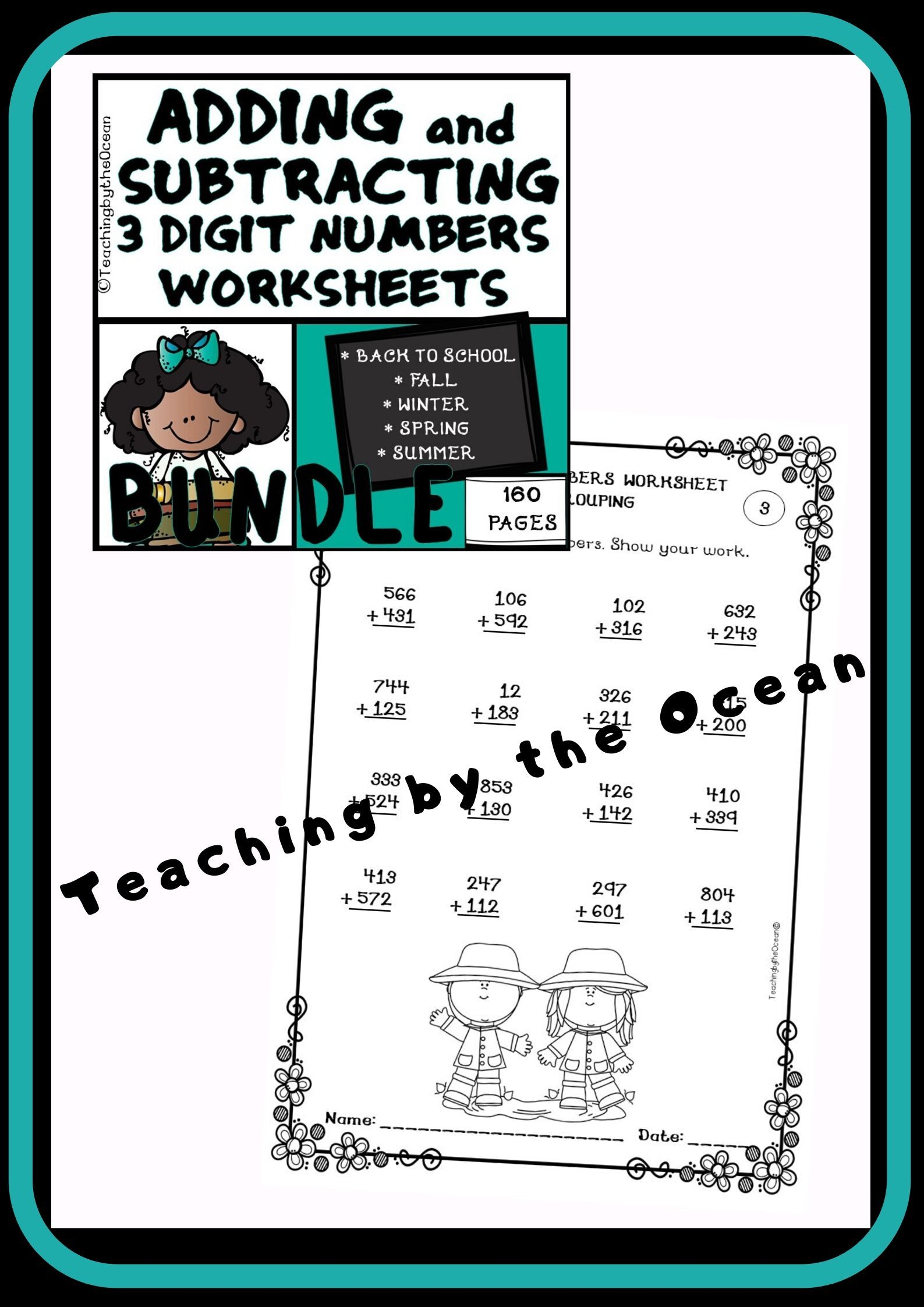 Adding And Subtracting 3 Digit Numbers Worksheets All Year