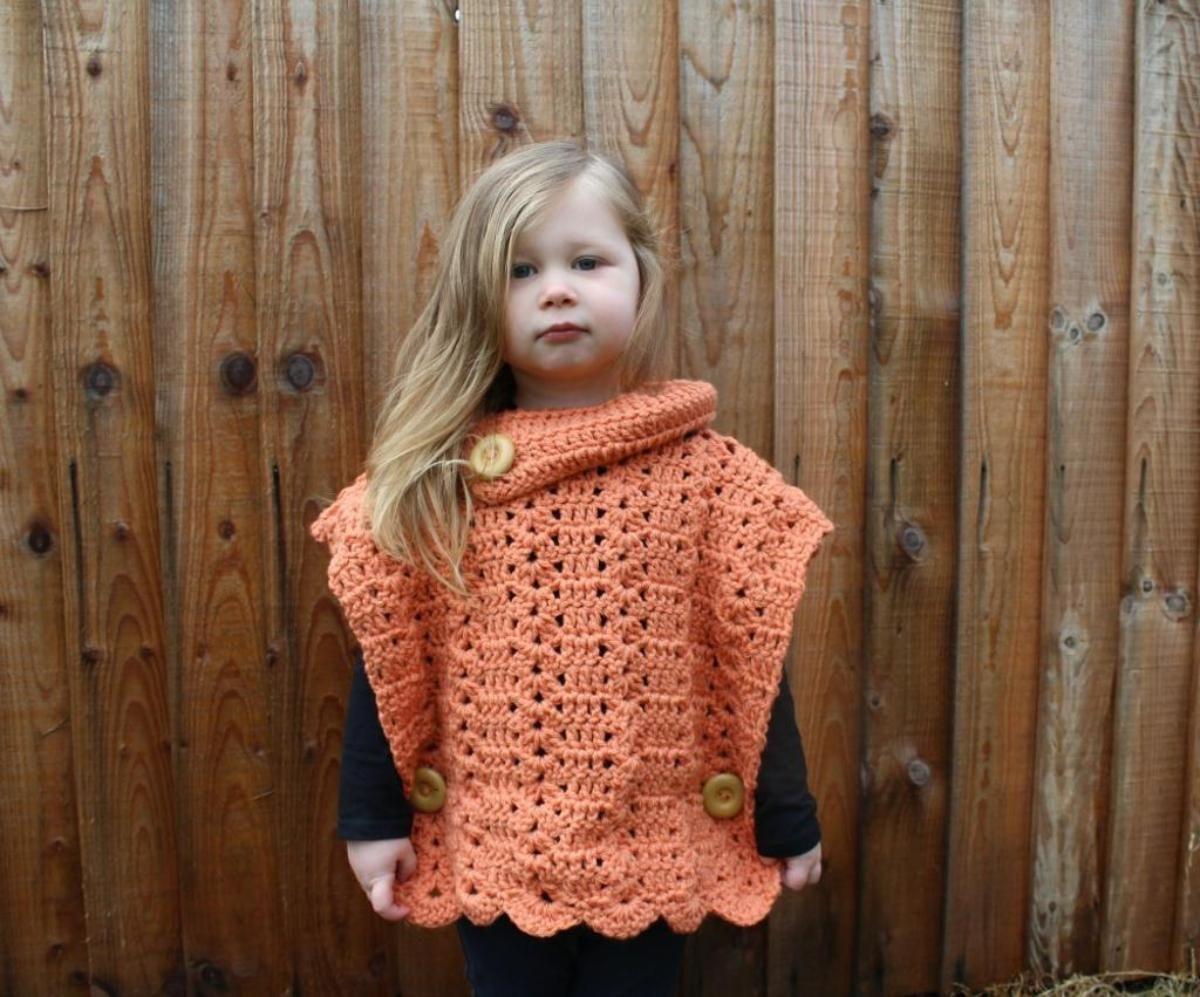 Crochet Toddler Shell Pullover Pattern