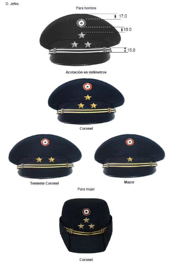 Gorras de oficiales del Ejército Mexicano   Mexican Army senior officers   visor caps. 10dfda80312