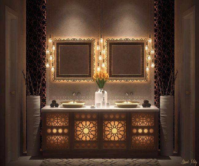 Idees Et Inspirations Pour Une Salle De Bain De Luxe Salle De Bain Marocaine Decoration Salle De Bain Salle De Bains Orientale