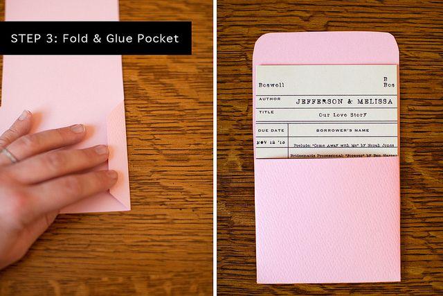 DIY Library Card Wedding Programs - Use the library card and - library card template