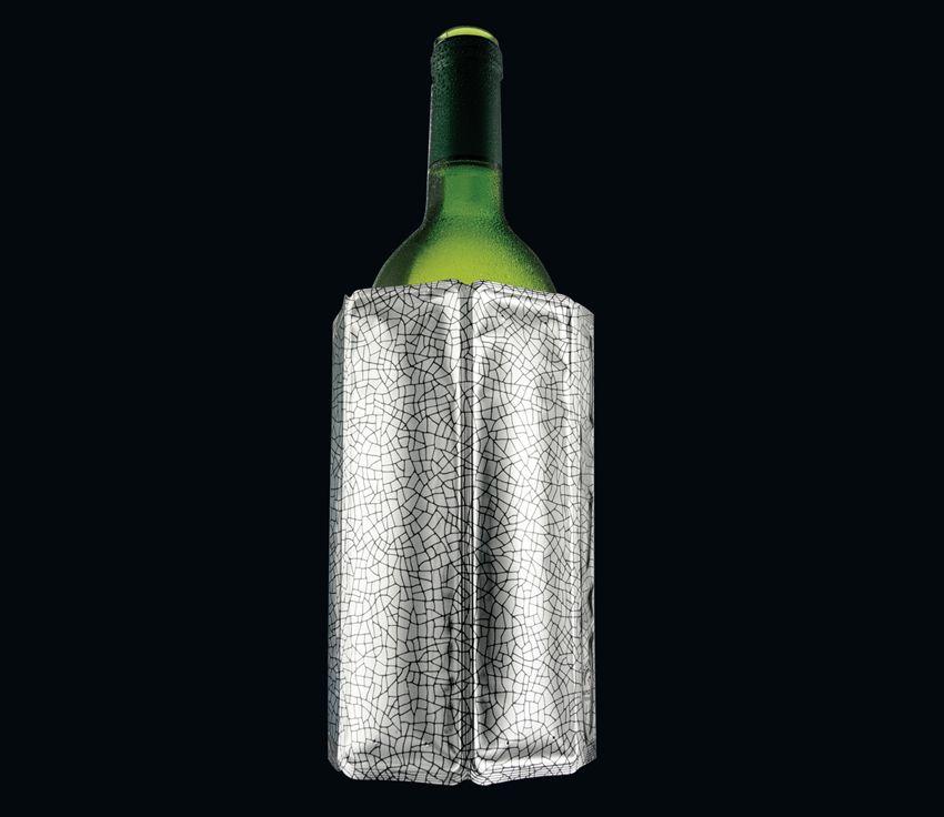 """Cilio Kühlmanschette """"Wine Cooler"""" Kühlmanschette """"Wine Cooler"""": flexible Kühlmanschette für Weinflaschen, unzerbrechlich und wiederverwendbar, für Flaschen von 0,7-1,0 Liter, 14,5x18x2,5 cm"""
