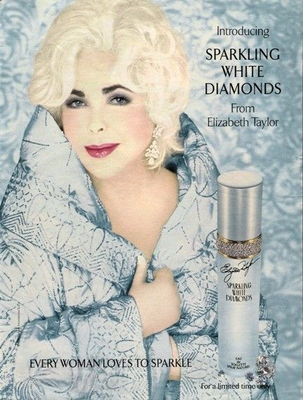 Elizabeth Taylor Sparkling White Diamonds Perfume When Liz Went White Haired Elizabeth Taylor Perfume Elizabeth Taylor White Diamonds Perfume