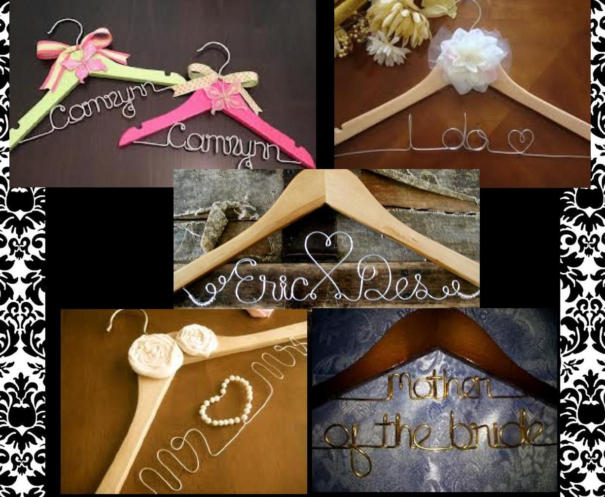 DIY Personalized Hangers Tutorial | Online fonts, Floral supplies ...