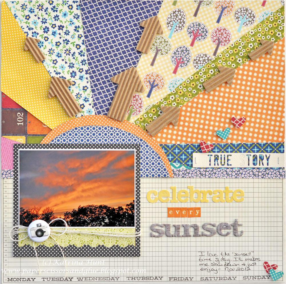 Celebrate Every Sunset-Jillibean Soup - Scrapbook.com