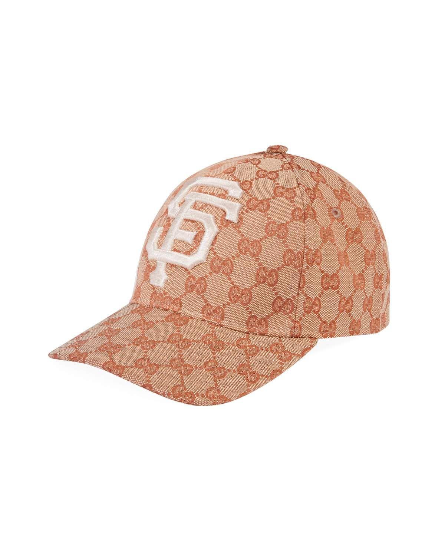 77df25ea69f Gucci Men s Logo-Print Baseball Cap with San Francisco Giants MLB Applique