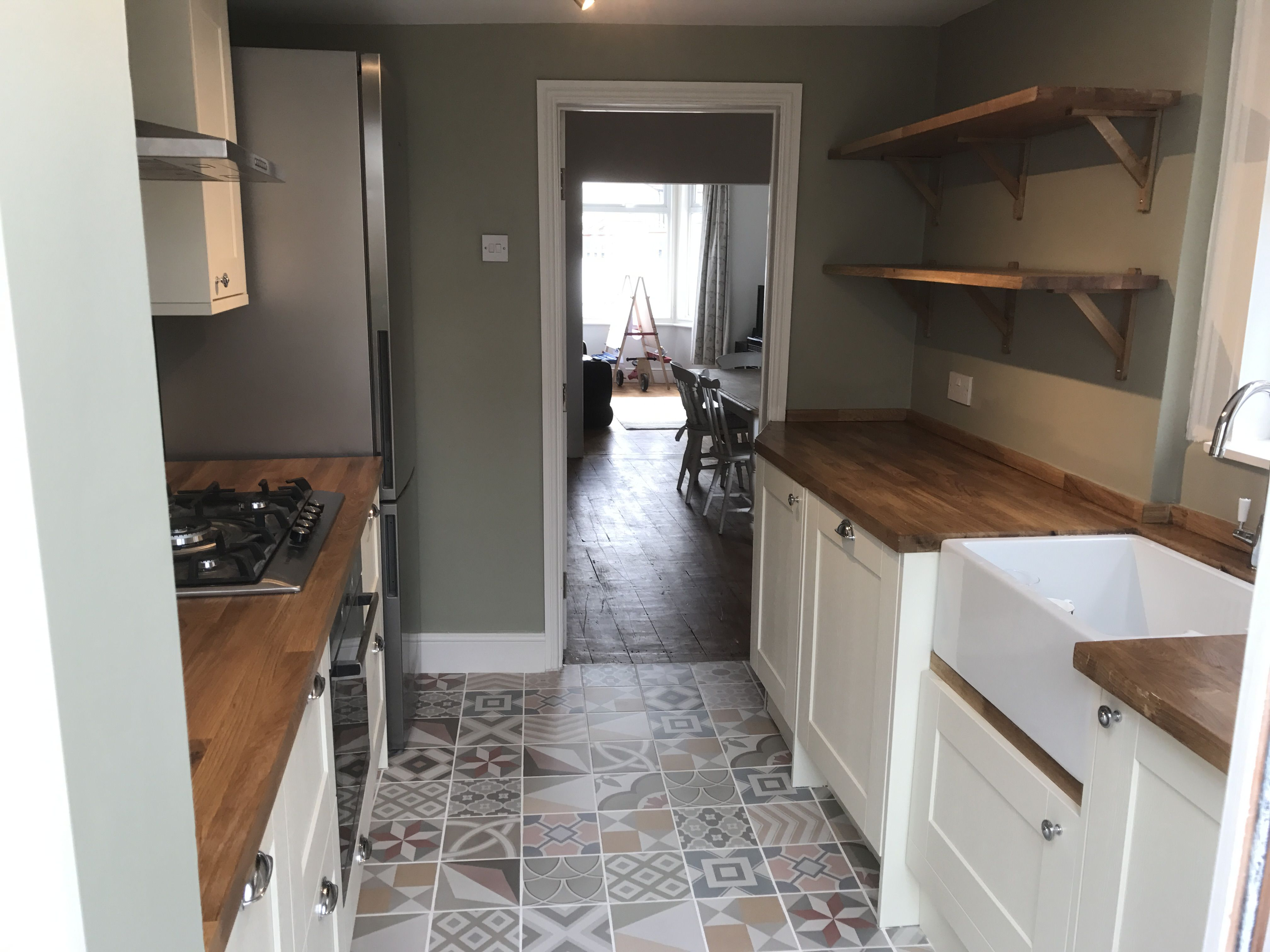 Lovely kitchen by us with gorgeous wooden Worktops and a ...