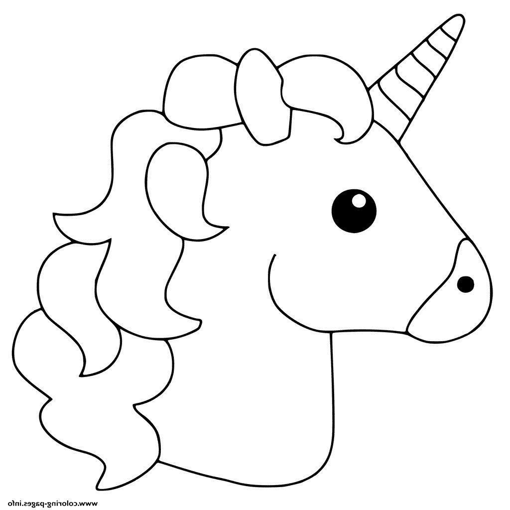 Fine Coloring Page Unicorn Emoji that you must know, You ...