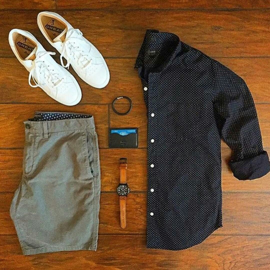 Outfit Grid - Casual Summer Style | Menu0026#39;s Fashion | Pinterest | Casual Summer Style Summer And ...