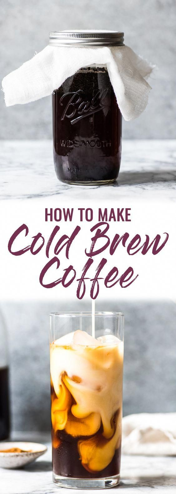How to Make Cold Brew Coffee at home! No more expensive and overpriced iced lattes - make your own with cold brew!