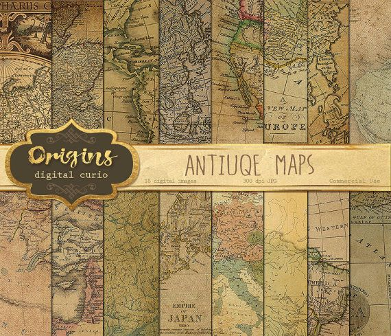 Antique maps digital paper vintage maps world map scrapbook paper antique maps digital paper vintage maps world map scrapbook paper pack old paper textures instant download commercial use gumiabroncs Image collections