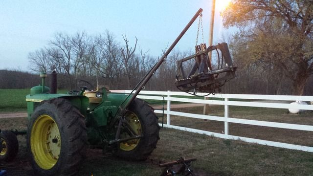 Tractor Three Point Boom : Tractor point telescoping high lift boom pole farm