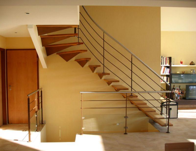 escalier 1 4 tournant haut consoles murales finition oxyd es vernie marches en h tre. Black Bedroom Furniture Sets. Home Design Ideas